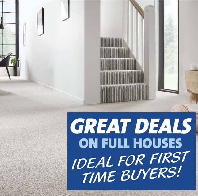 Great deals on carpets for full houses